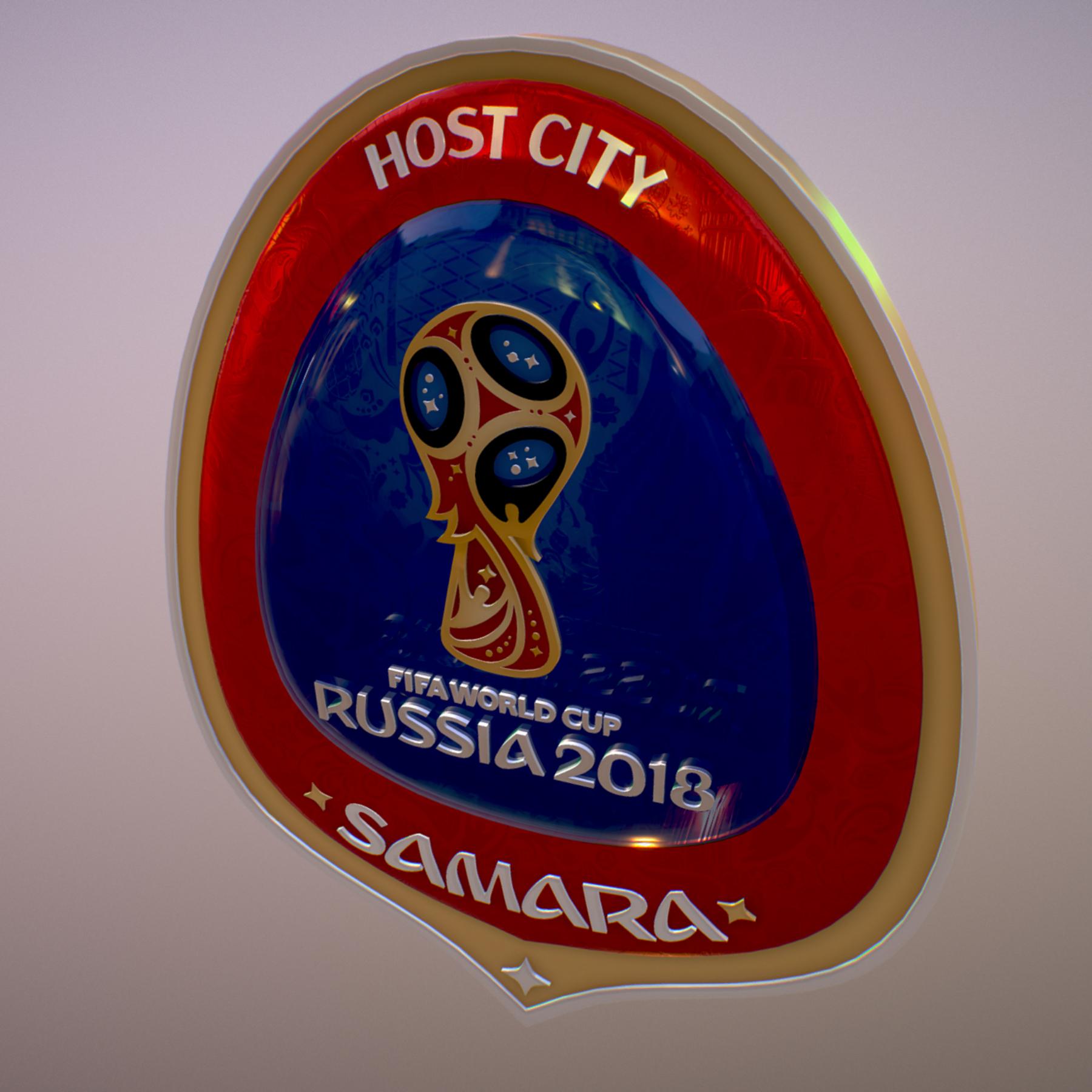 samara host city world cup russia 2018 symbol 3d model max  fbx jpeg jpg ma mb obj 271821