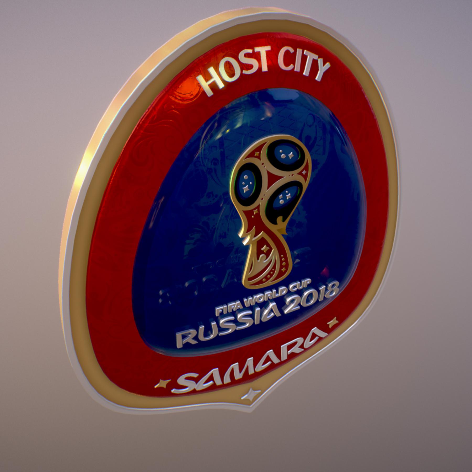 samara host city world cup russia 2018 symbol 3d model max  fbx jpeg jpg ma mb obj 271822