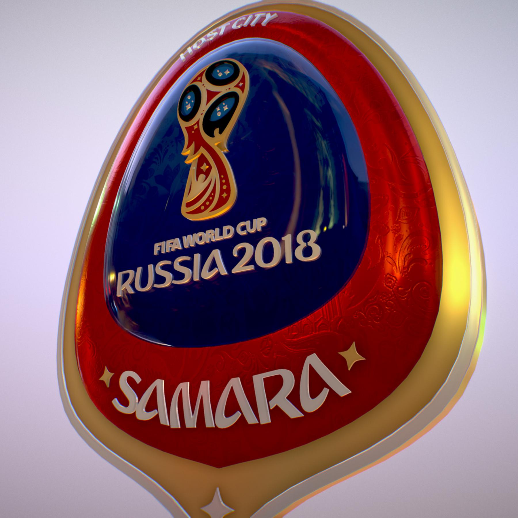 samara host city world cup russia 2018 symbol 3d model max  fbx jpeg jpg ma mb obj 271823