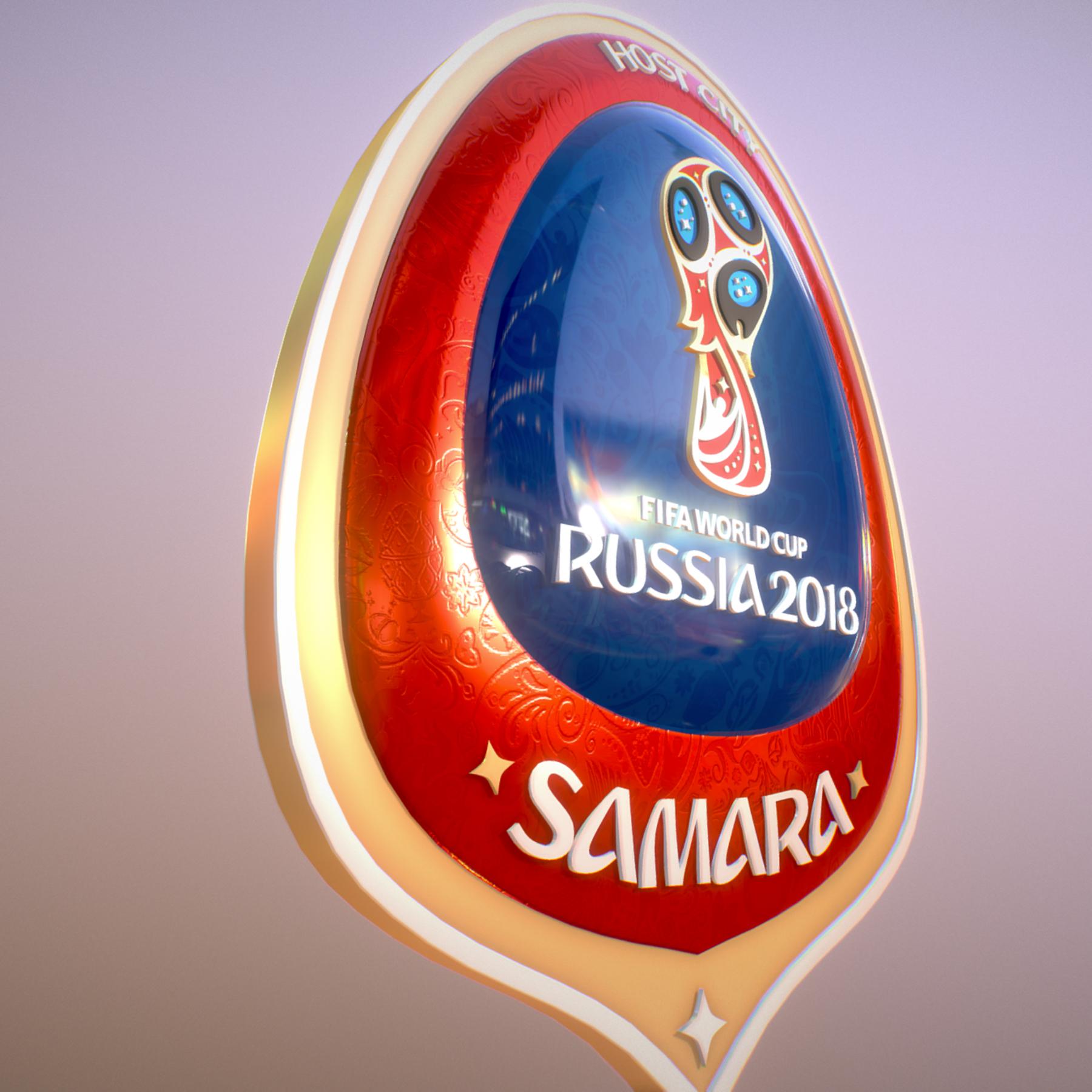 samara host city world cup russia 2018 symbol 3d model max  fbx jpeg jpg ma mb obj 271824