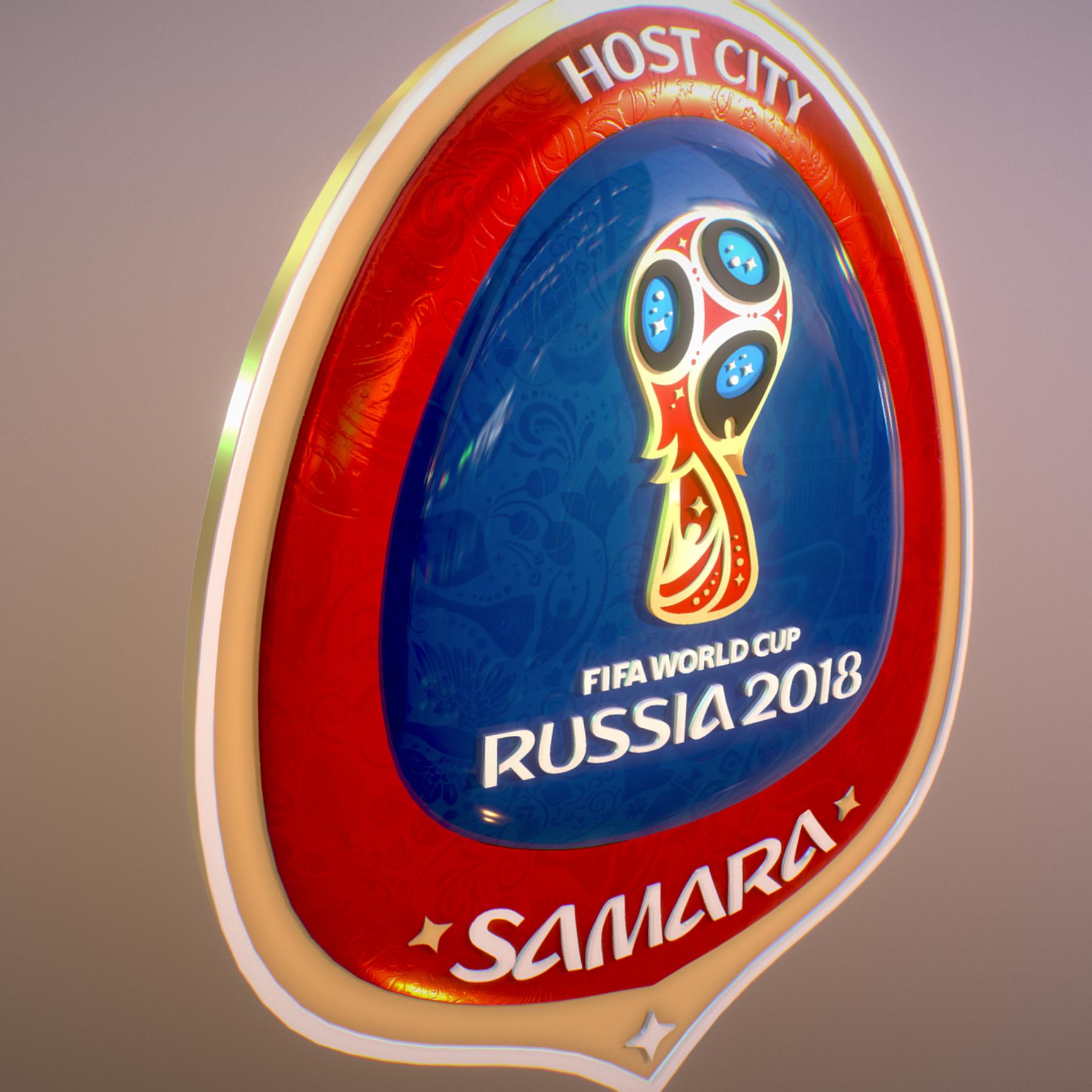 samara host city world cup russia 2018 symbol 3d model max  fbx jpeg jpg ma mb obj 271825