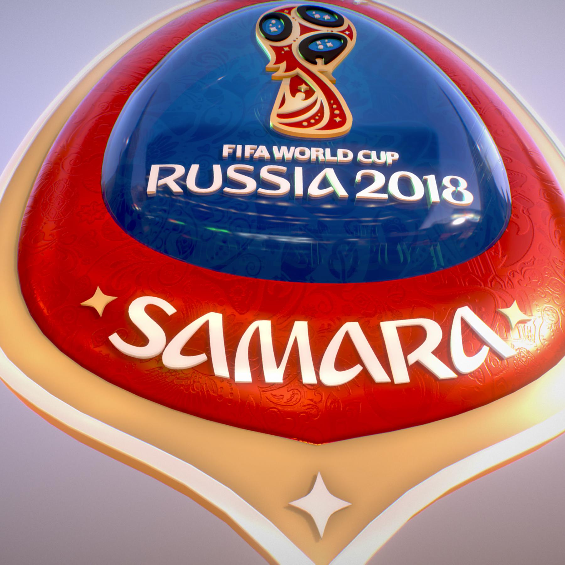 samara host city world cup russia 2018 symbol 3d model max  fbx jpeg jpg ma mb obj 271827