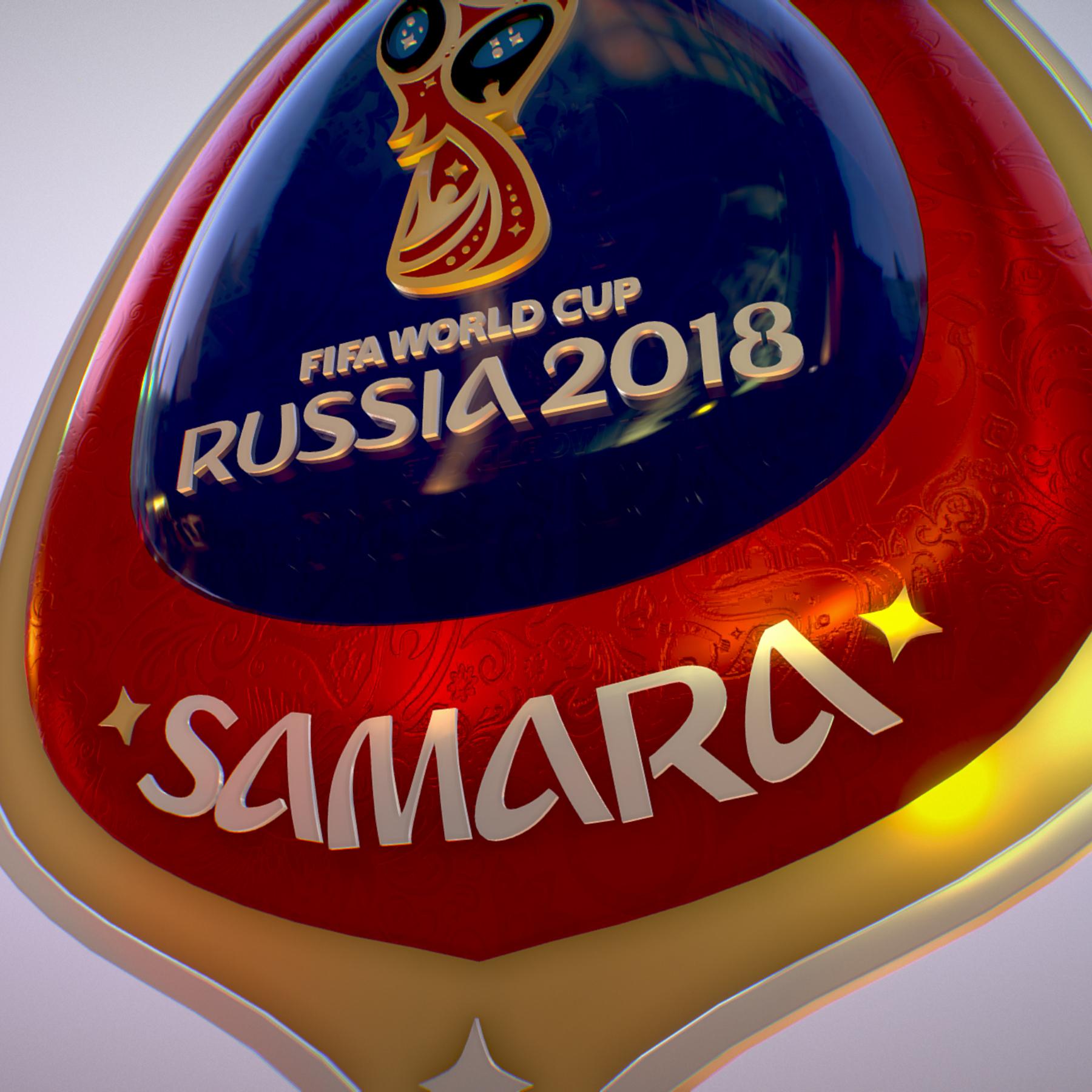 samara host city world cup russia 2018 symbol 3d model max  fbx jpeg jpg ma mb obj 271828