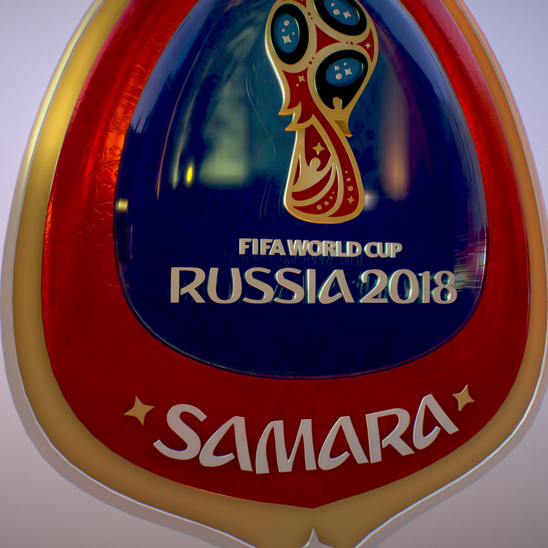 samara host city world cup russia 2018 symbol 3d model max  fbx jpeg jpg ma mb obj 271829