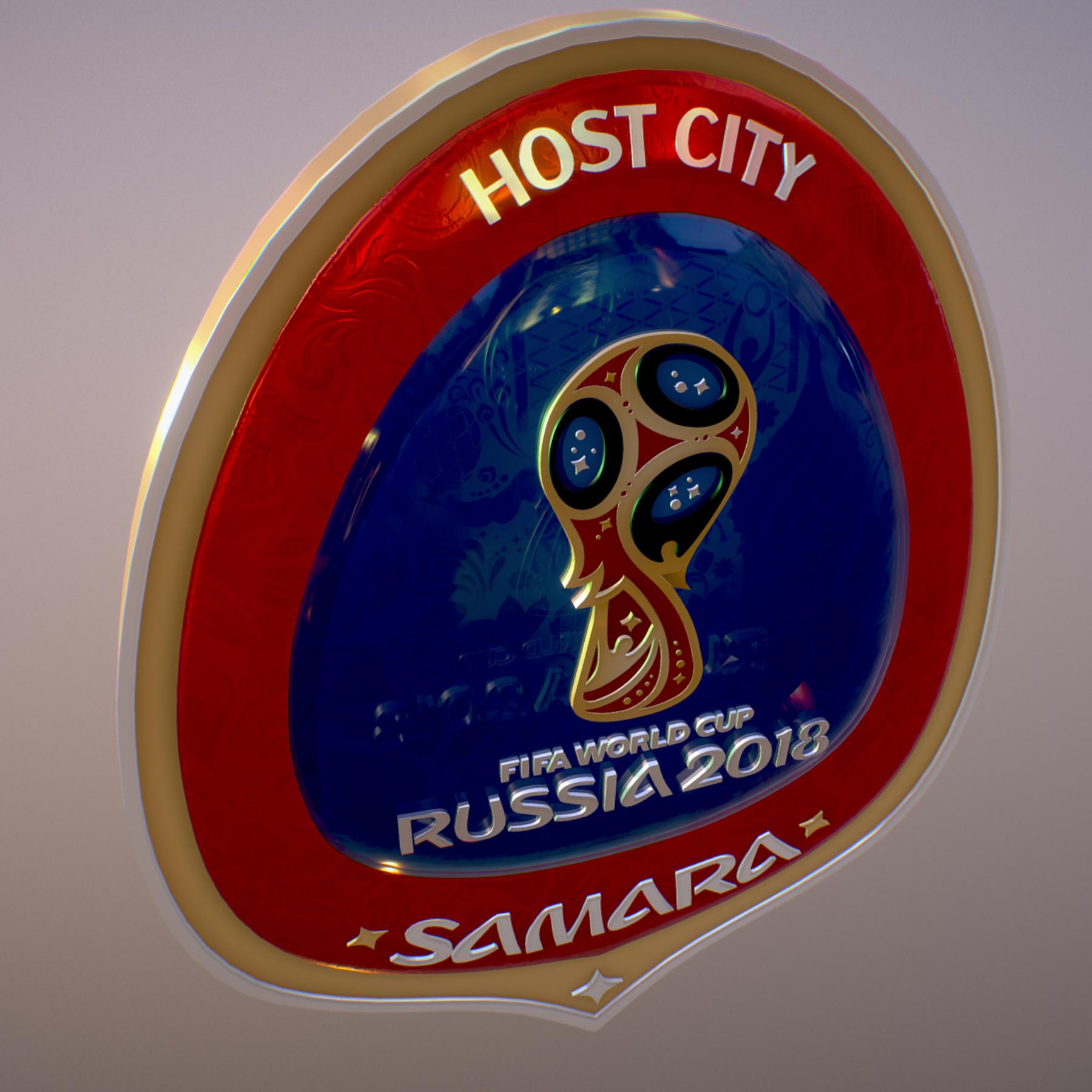 samara host city world cup russia 2018 symbol 3d model max  fbx jpeg jpg ma mb obj 271830