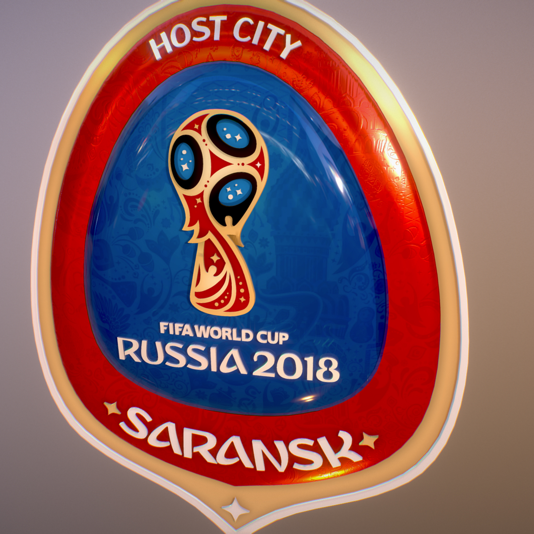 Saransk Host City World Cup Russia 2018 Symbol 3d model max 3ds max plugin fbx cob jpeg ma mb obj 271836