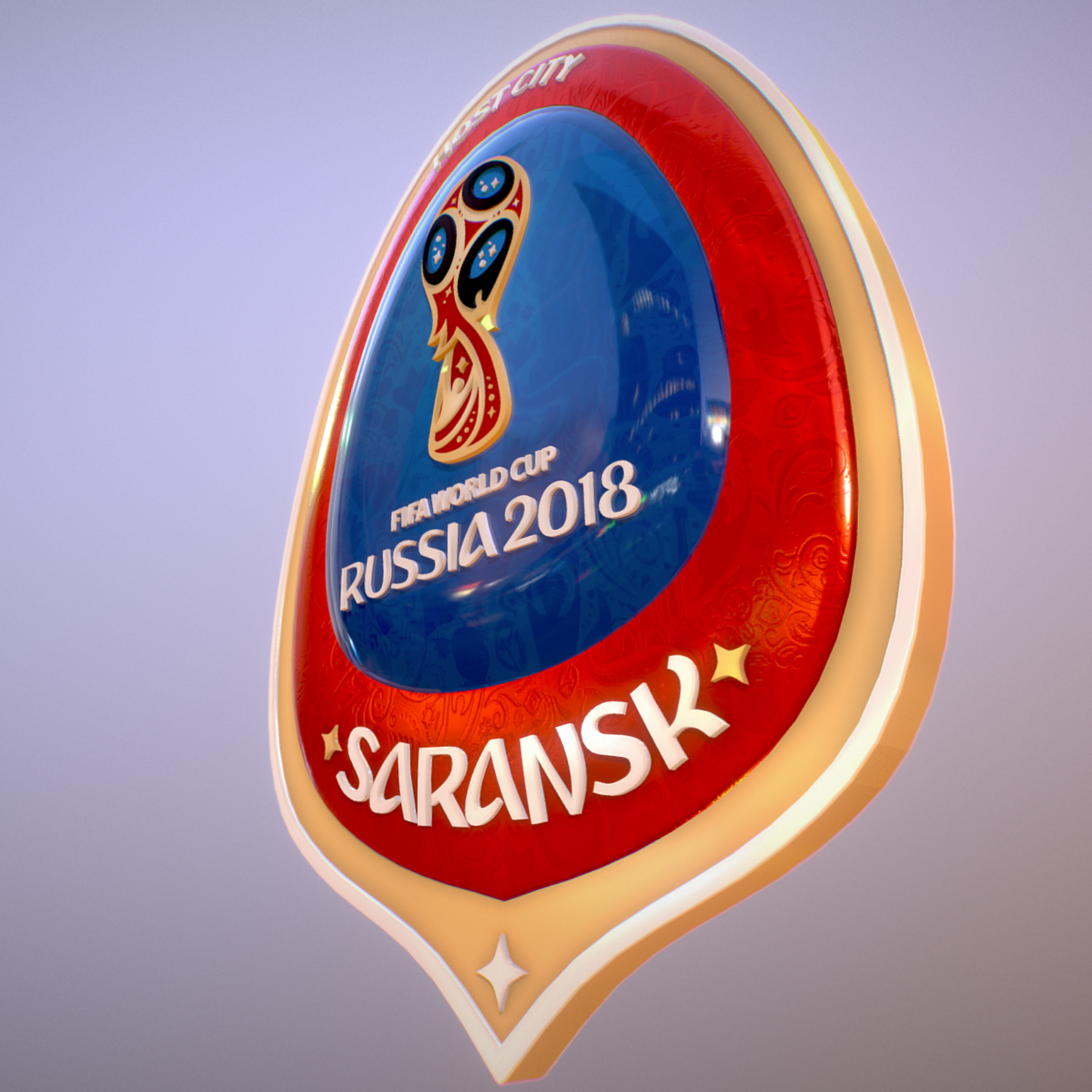 Saransk Host City World Cup Russia 2018 Symbol 3d model max 3ds max plugin fbx cob jpeg ma mb obj 271838