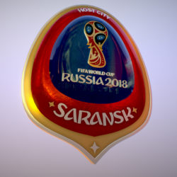 Saransk Host City World Cup Russia 2018 Symbol 3d model 0