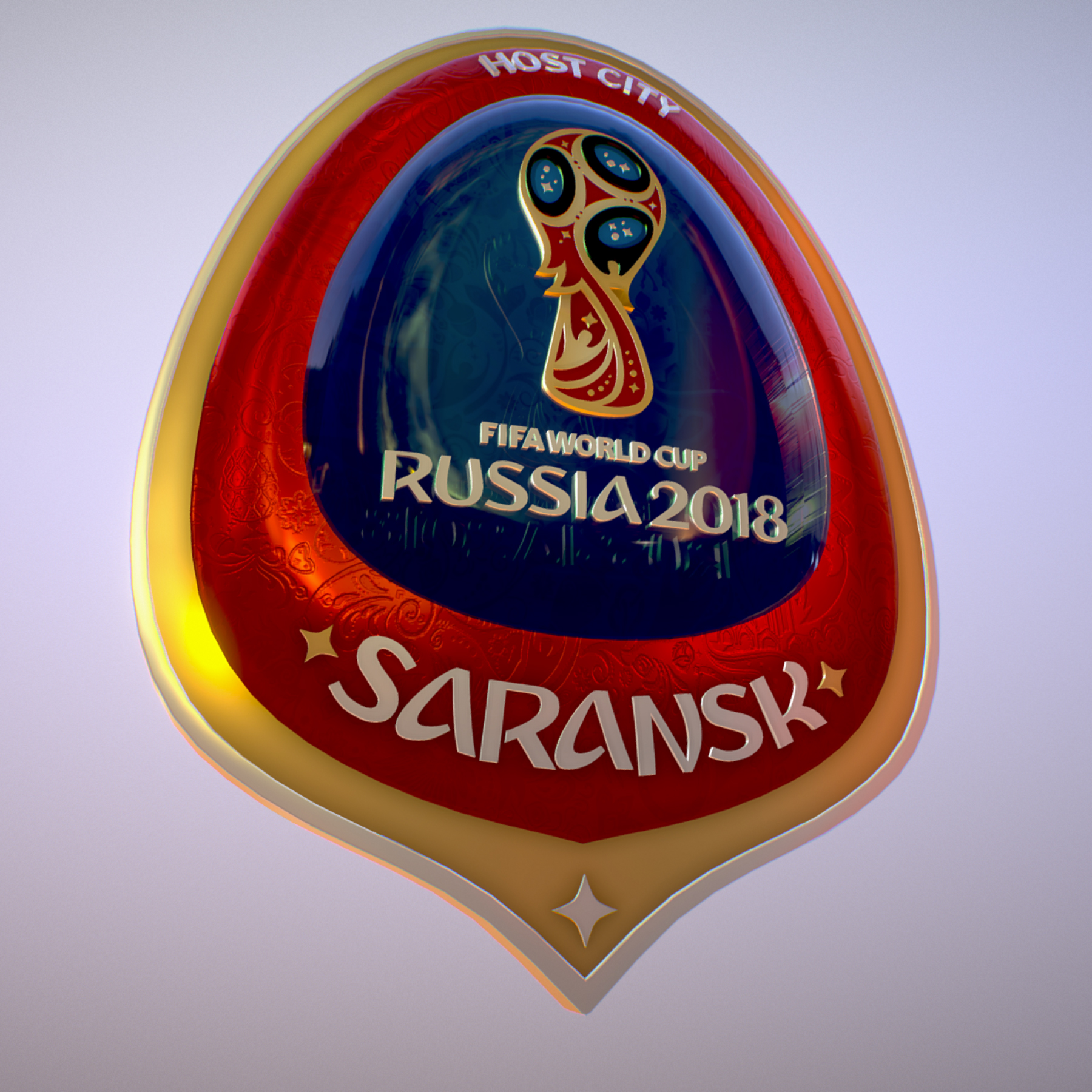 Saransk Host City World Cup Russia 2018 Symbol 3d model max 3ds max plugin fbx cob jpeg ma mb obj 271840