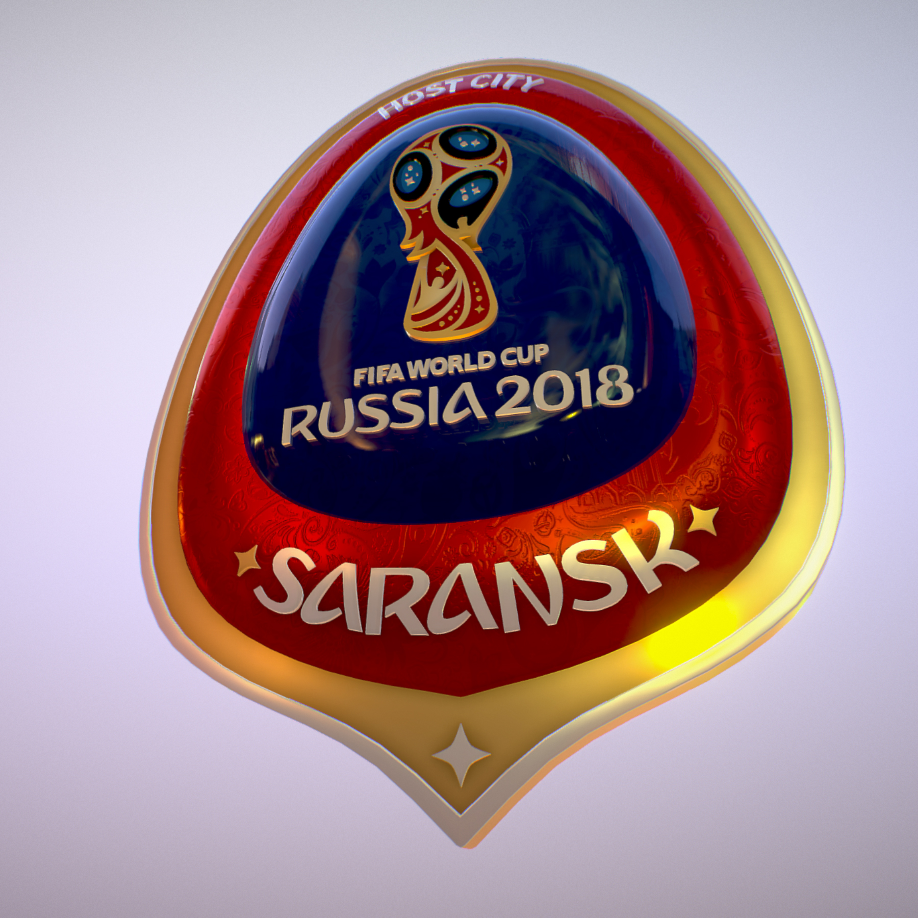 Saransk Host City World Cup Russia 2018 Symbol 3d model max 3ds max plugin fbx cob jpeg ma mb obj 271841