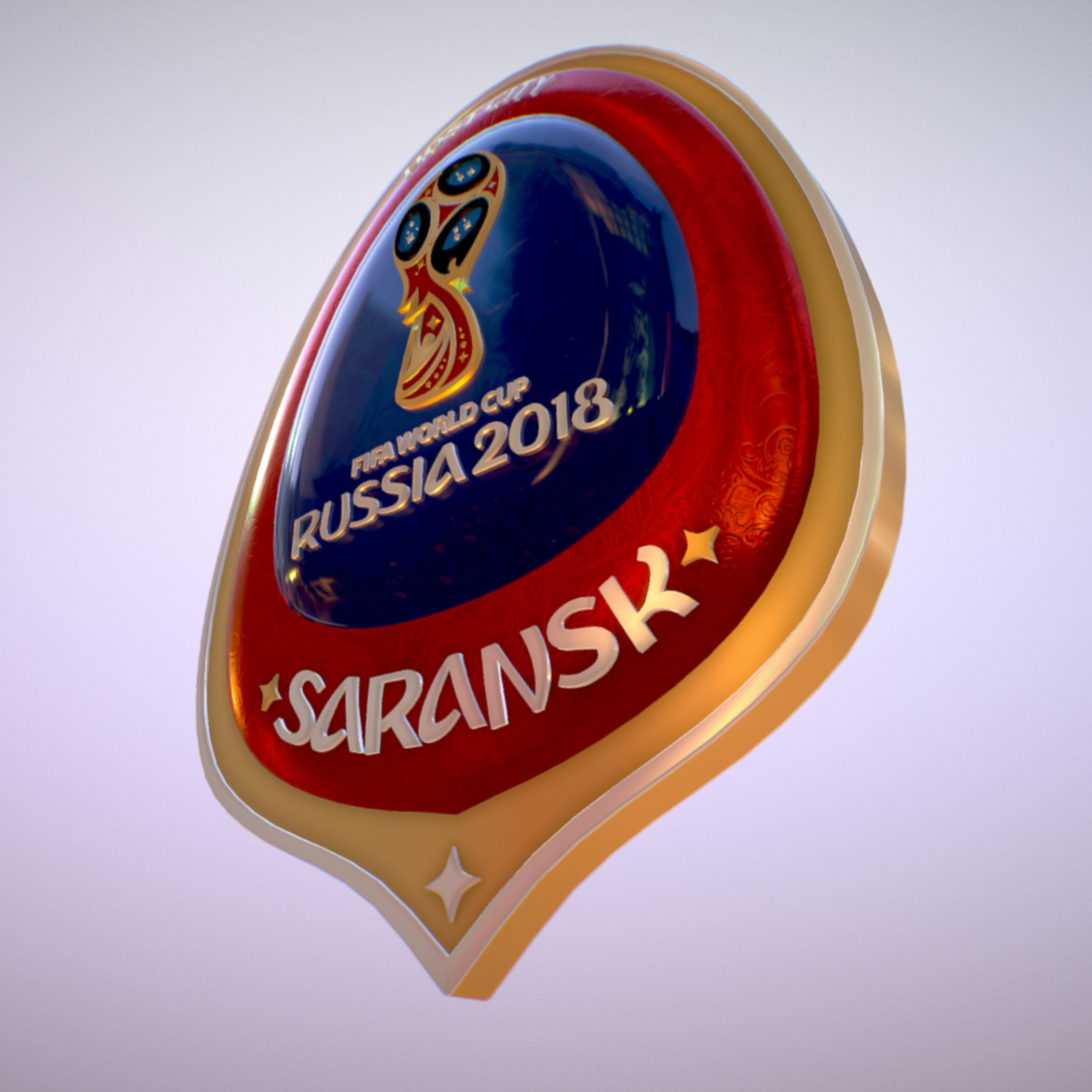 Saransk Host City World Cup Russia 2018 Symbol 3d model max 3ds max plugin fbx cob jpeg ma mb obj 271842