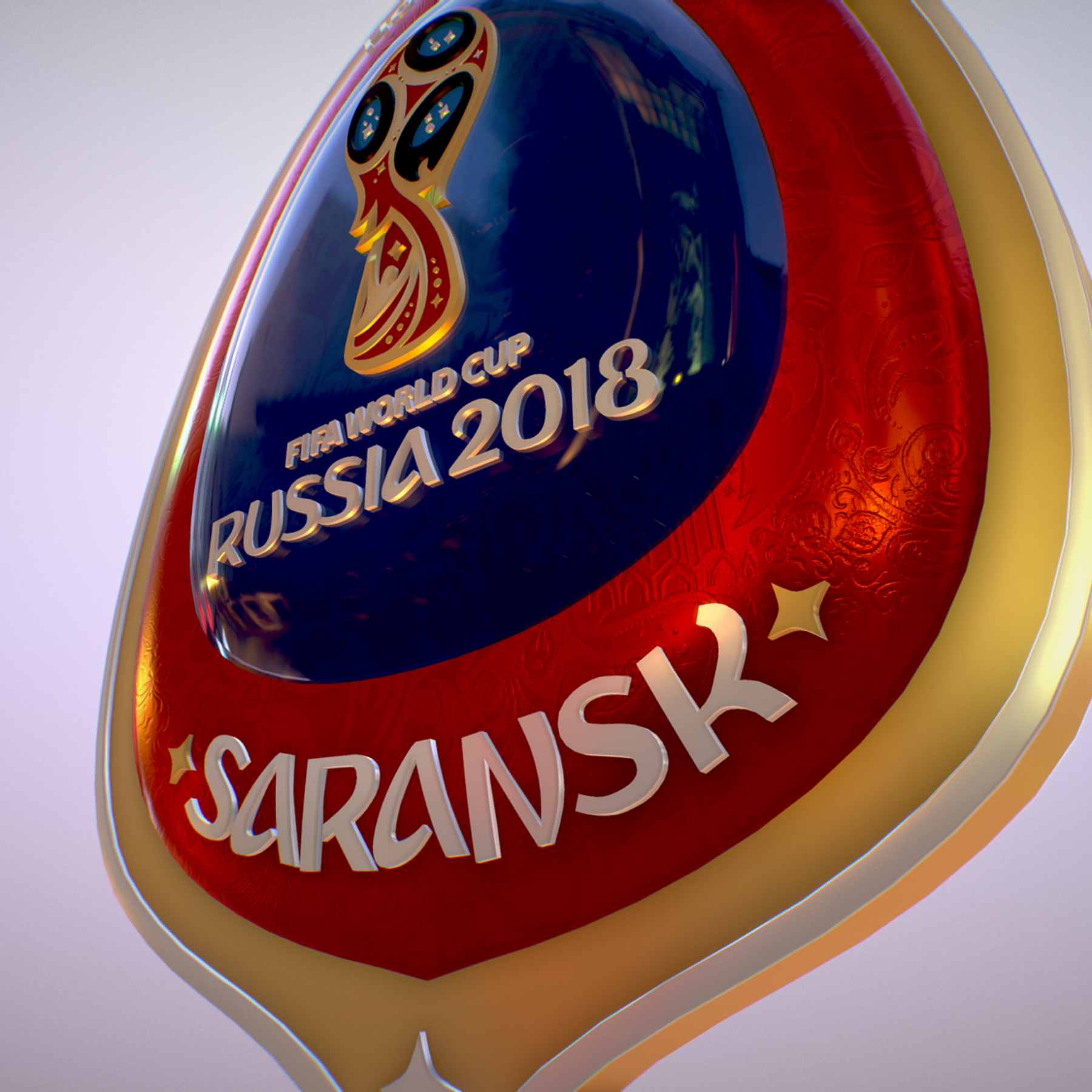 Saransk Host City World Cup Russia 2018 Symbol 3d model max 3ds max plugin fbx cob jpeg ma mb obj 271843