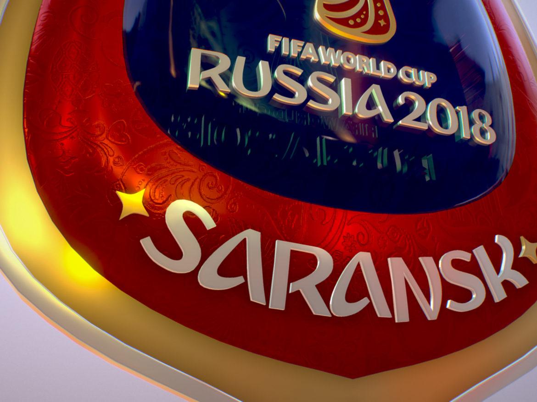 Saransk Host City World Cup Russia 2018 Symbol 3d model  max 3ds max plugin fbx cob jpeg ma mb obj