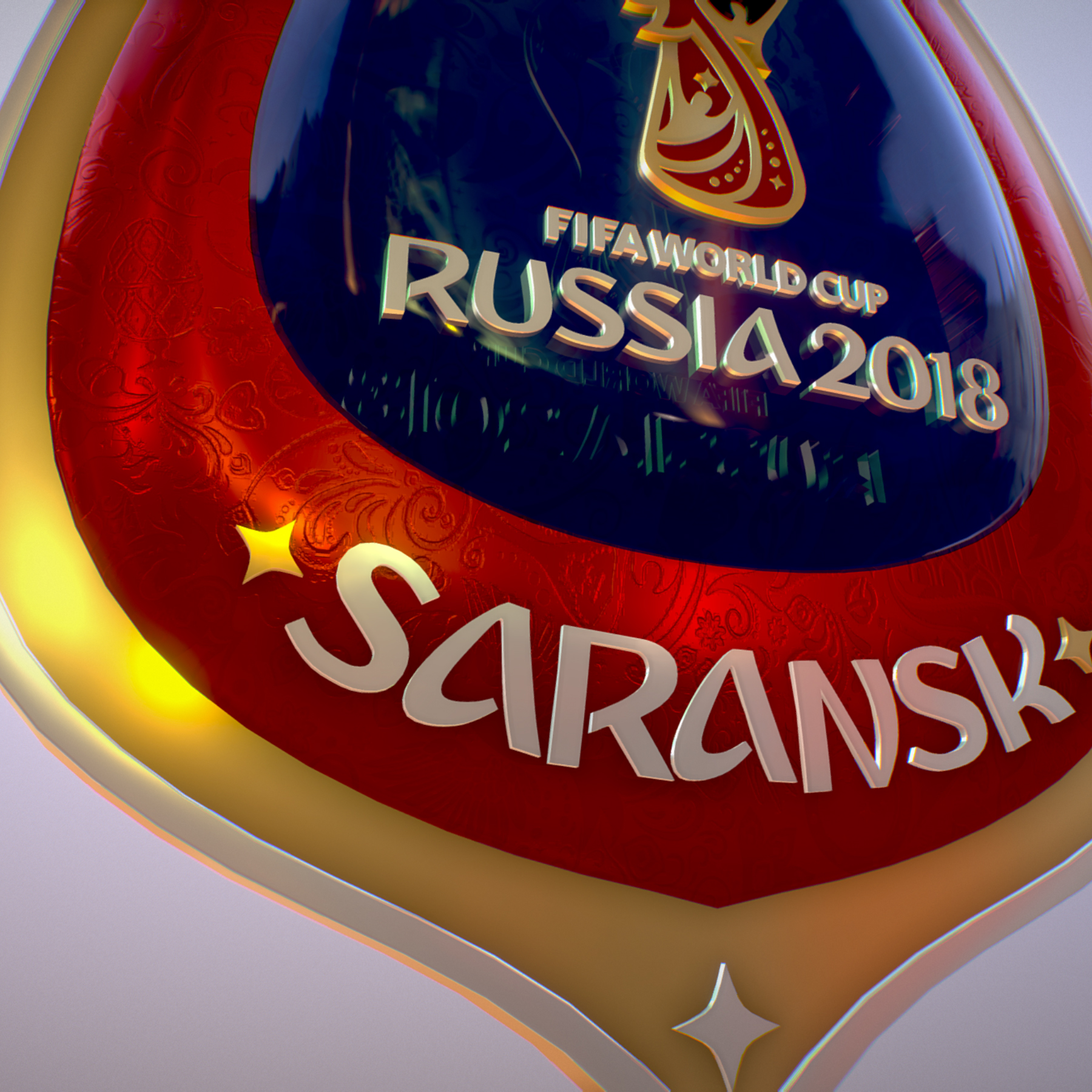 Saransk Host City World Cup Russia 2018 Symbol 3d model max 3ds max plugin fbx cob jpeg ma mb obj 271849
