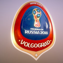 Volgograd Host City World Cup Russia 2018 Symbol 3d model 0