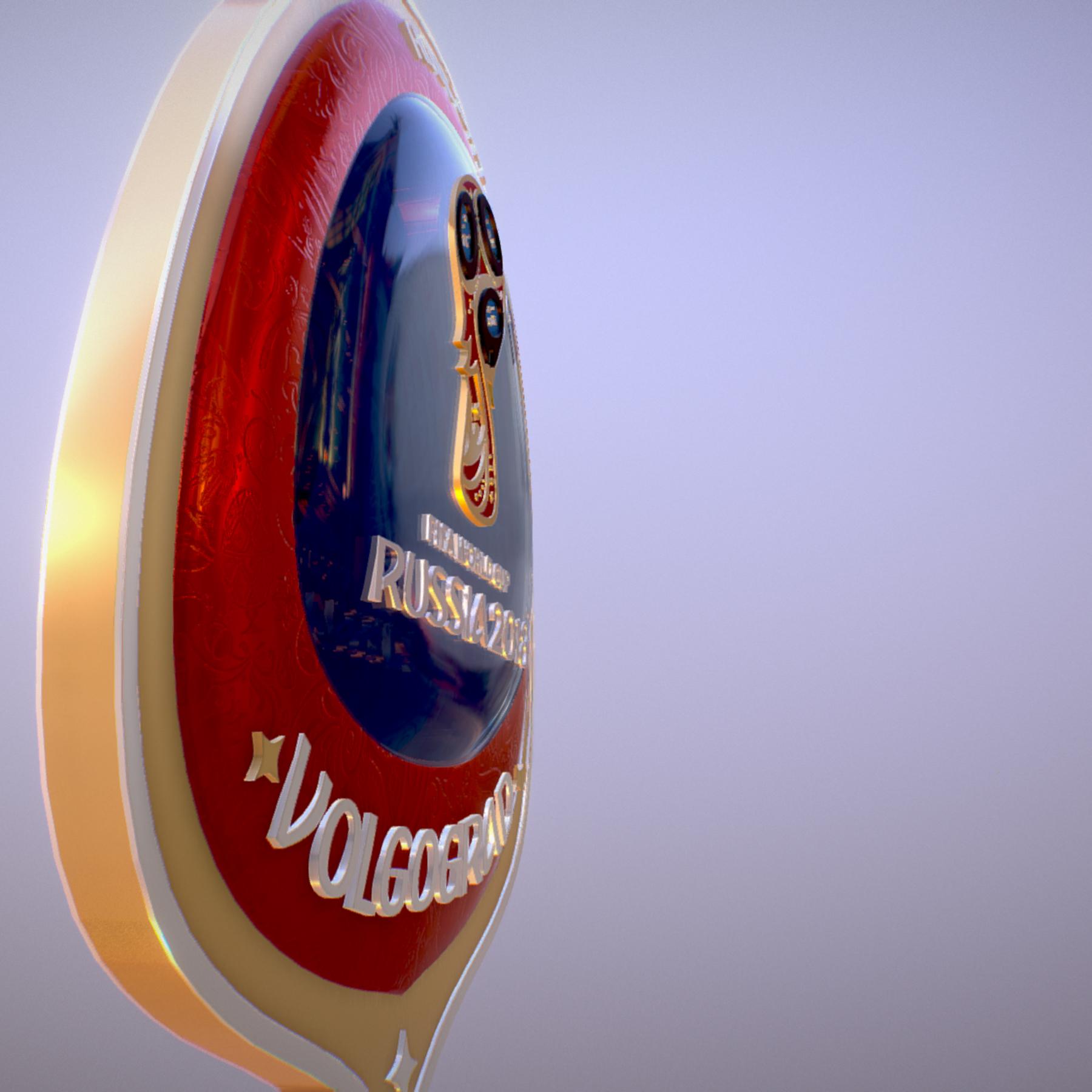 volgograd host city world cup russia 2018 symbol 3d model max  fbx jpeg jpg ma mb obj 271867