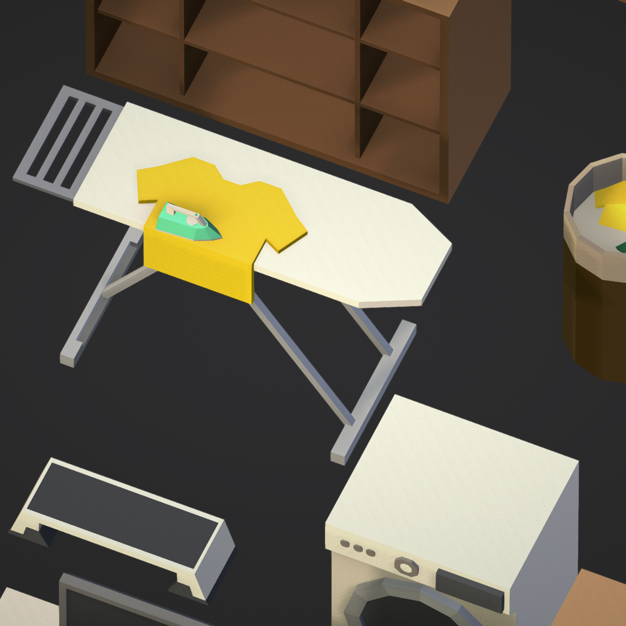 100 object Isometric Home Office Furniture Fitness 3d model max 3ds max plugin fbx ma mb png obj 271912