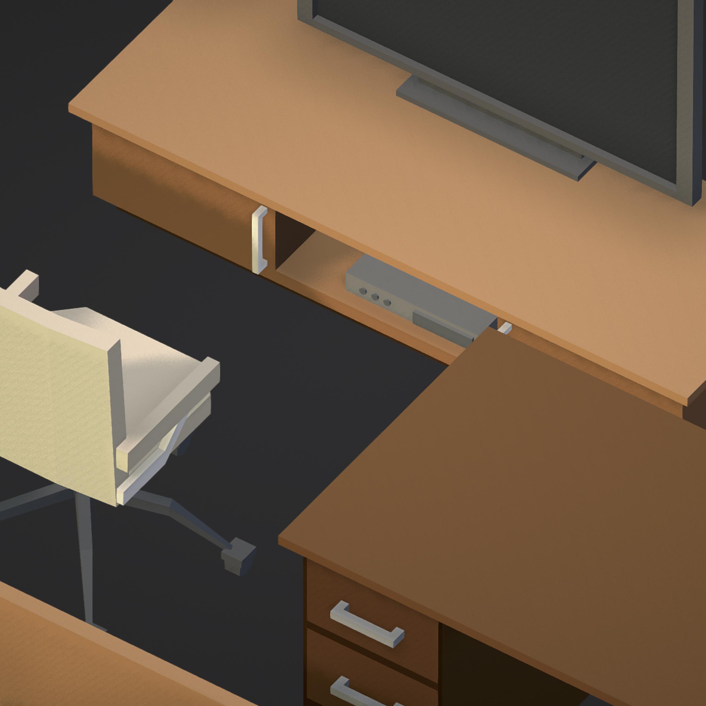 100 object Isometric Home Office Furniture Fitness 3d model max 3ds max plugin fbx ma mb png obj 271915