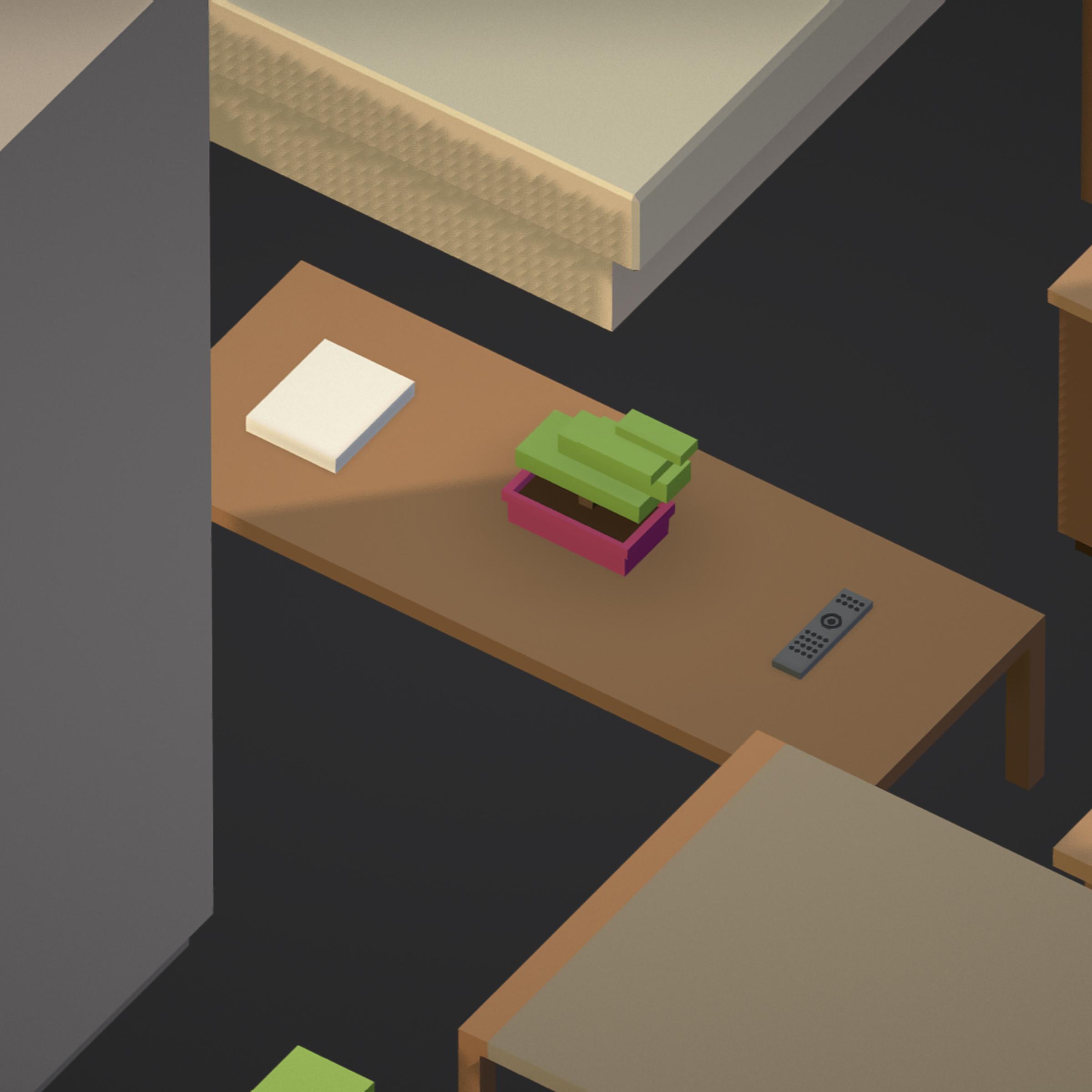 100 object Isometric Home Office Furniture Fitness 3d model max 3ds max plugin fbx ma mb png obj 271916