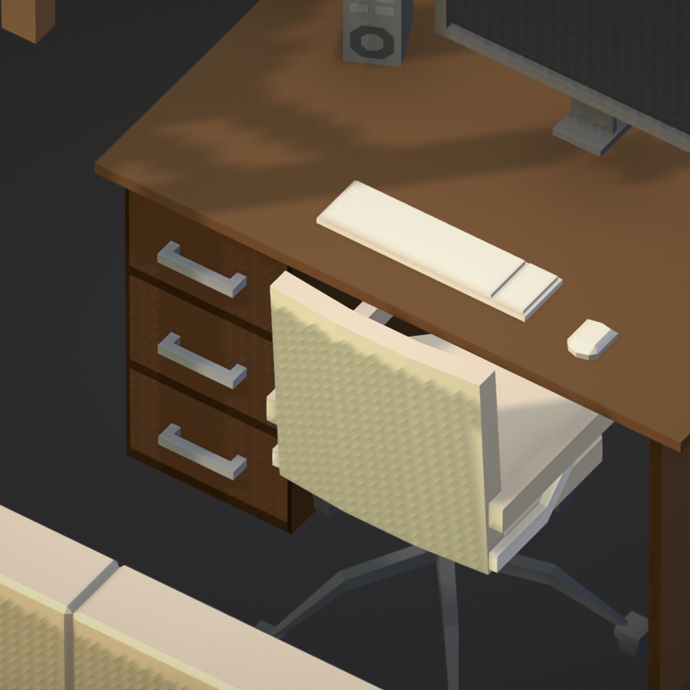 100 object Isometric Home Office Furniture Fitness 3d model max 3ds max plugin fbx ma mb png obj 271917