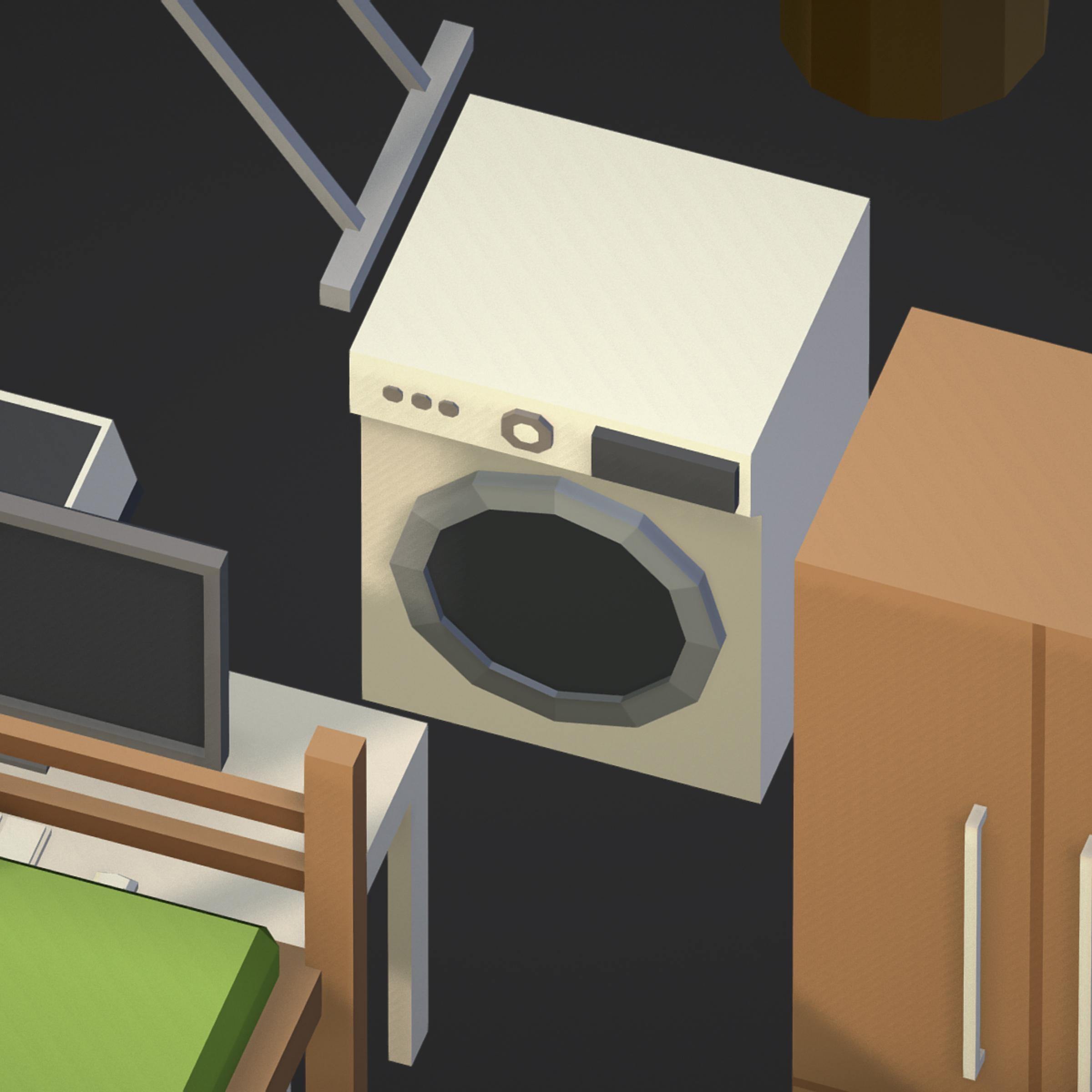 100 object Isometric Home Office Furniture Fitness 3d model max 3ds max plugin fbx ma mb png obj 271925