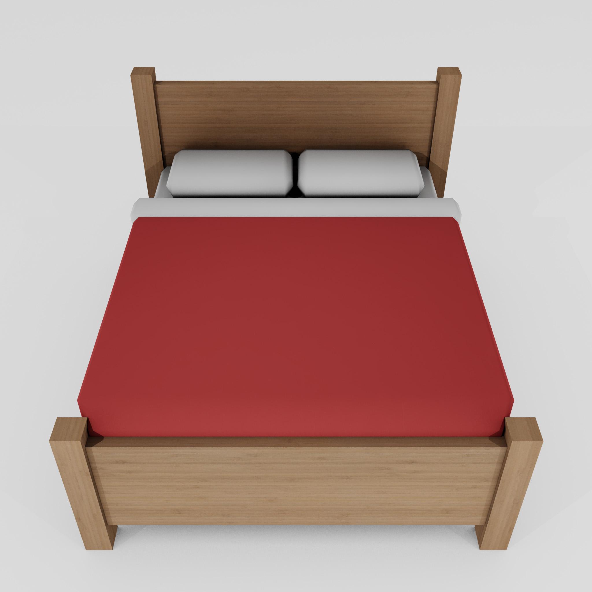 double bed 3d model 3ds max fbx obj 271950