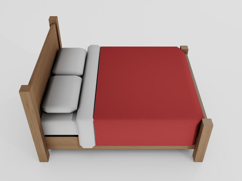 Double Bed 3d model 0