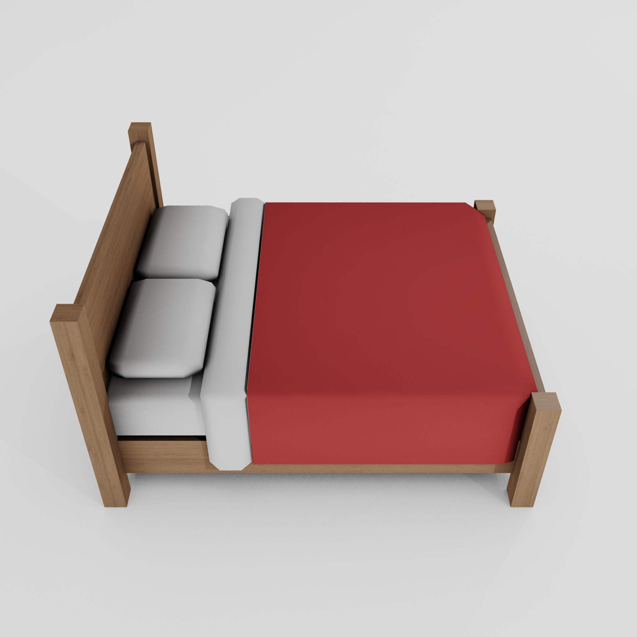 double bed 3d model 3ds max fbx obj 271952