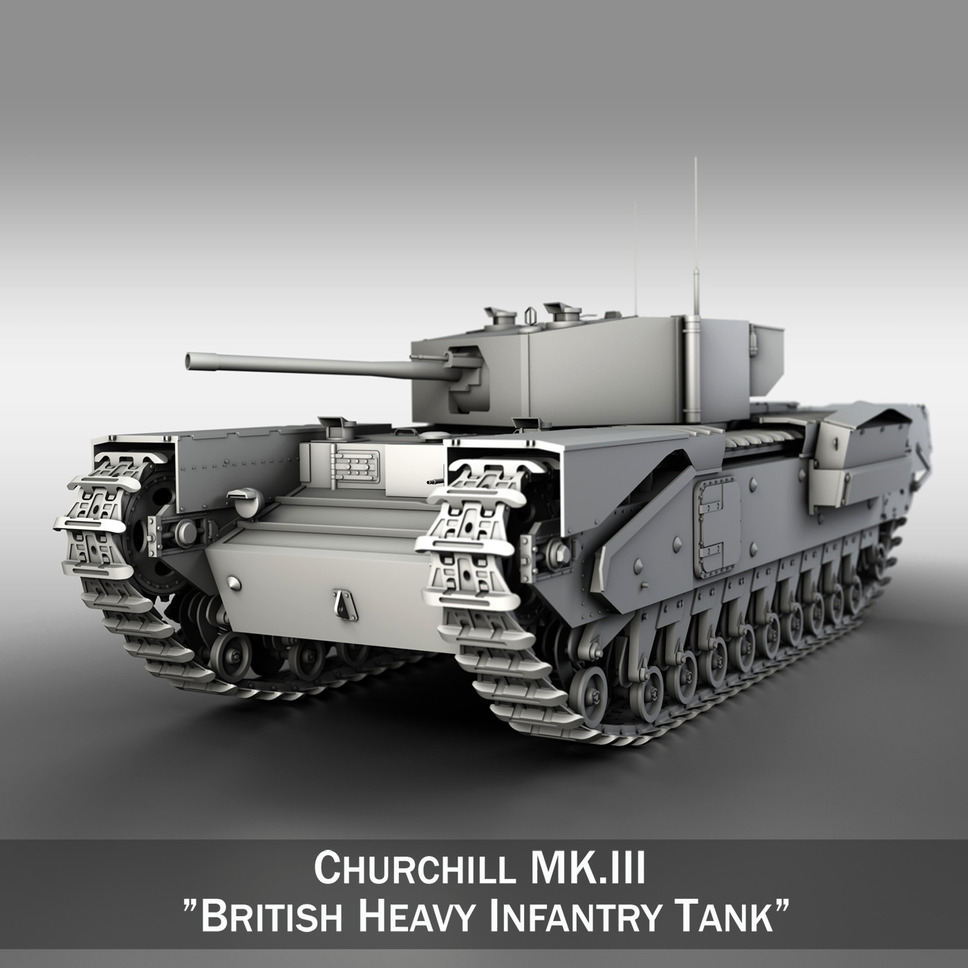 churchill infantry tank mk.iii 3d model 3ds fbx c4d lwo obj 271960