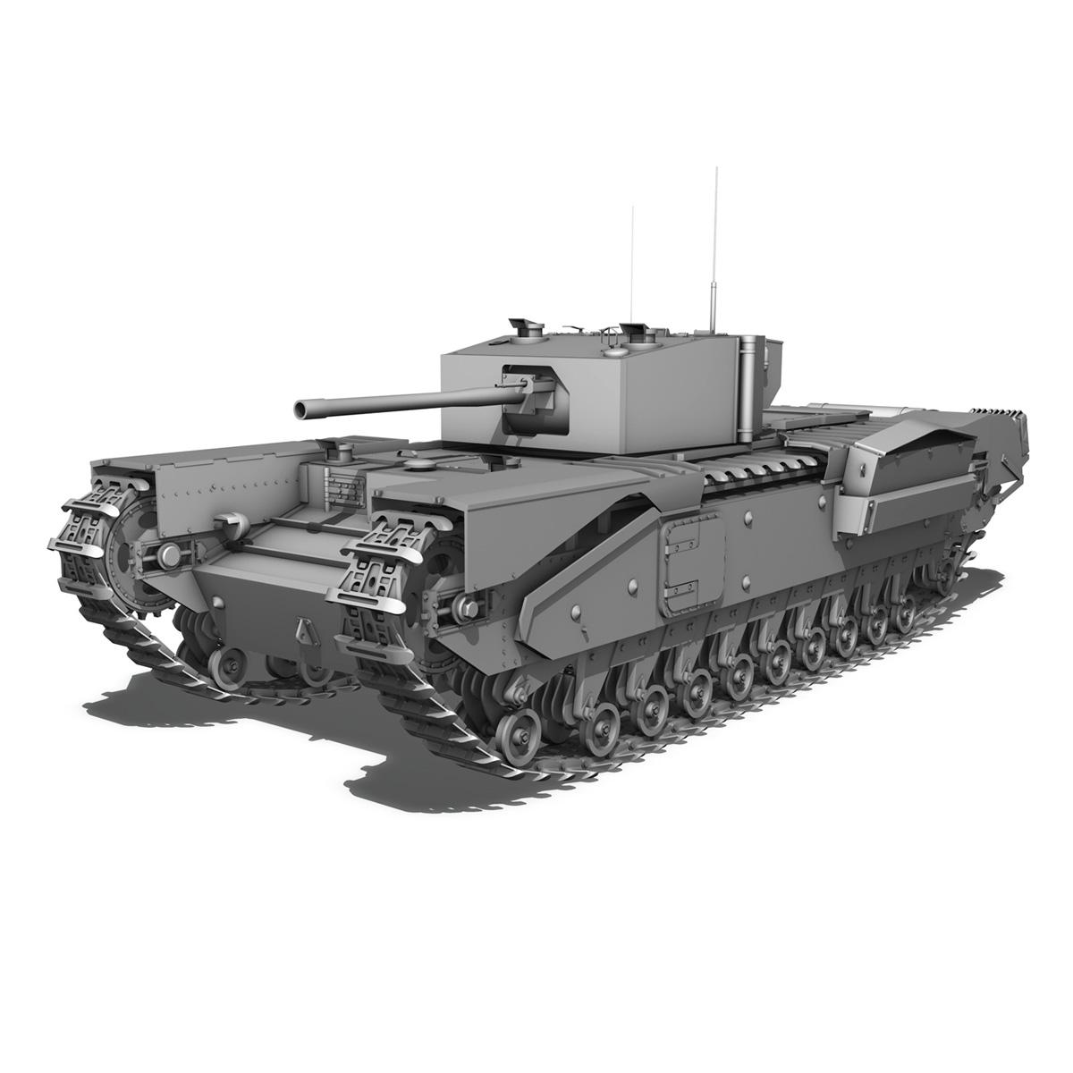 churchill infantry tank mk.iii 3d model 3ds fbx c4d lwo obj 271961