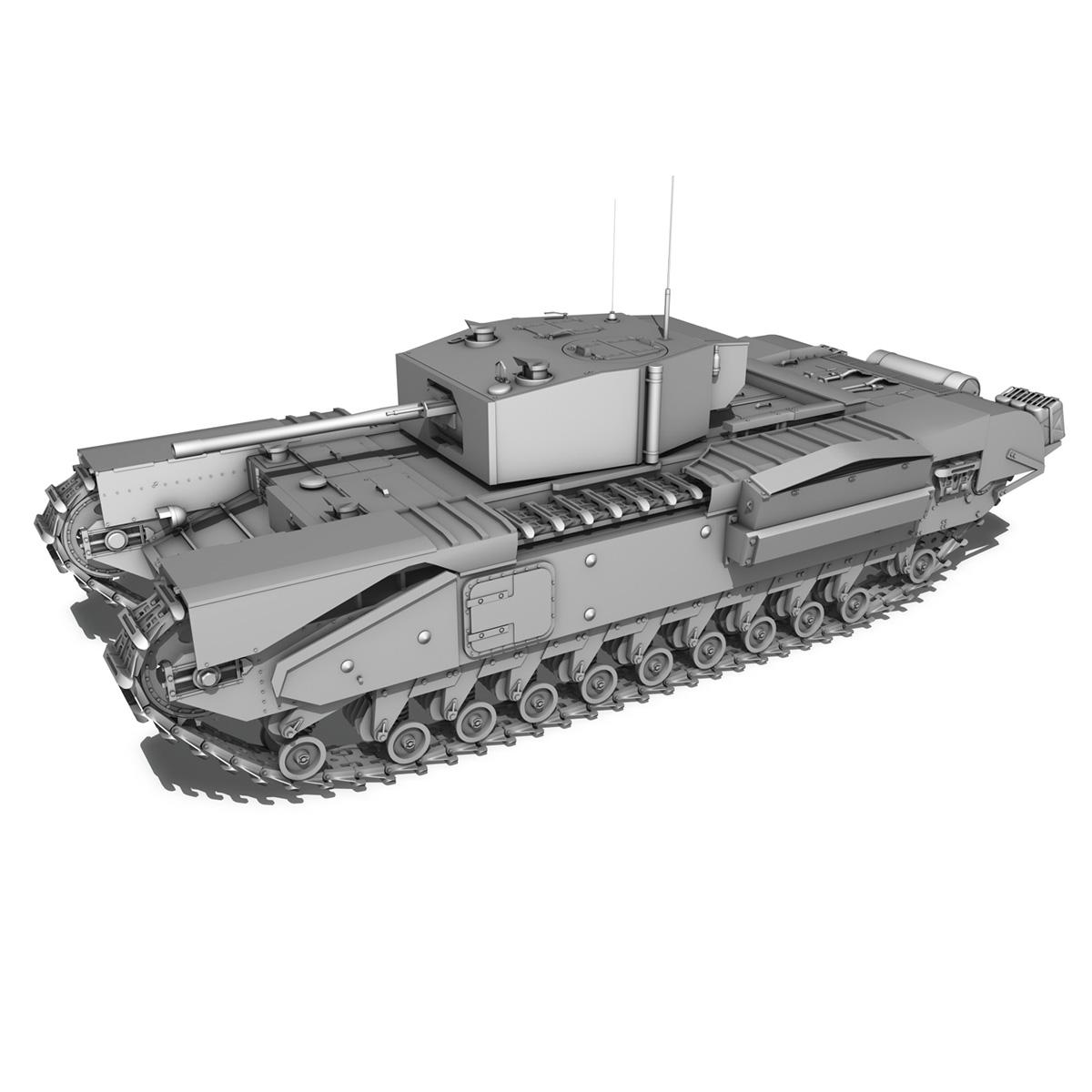 churchill infantry tank mk.iii 3d model 3ds fbx c4d lwo obj 271962