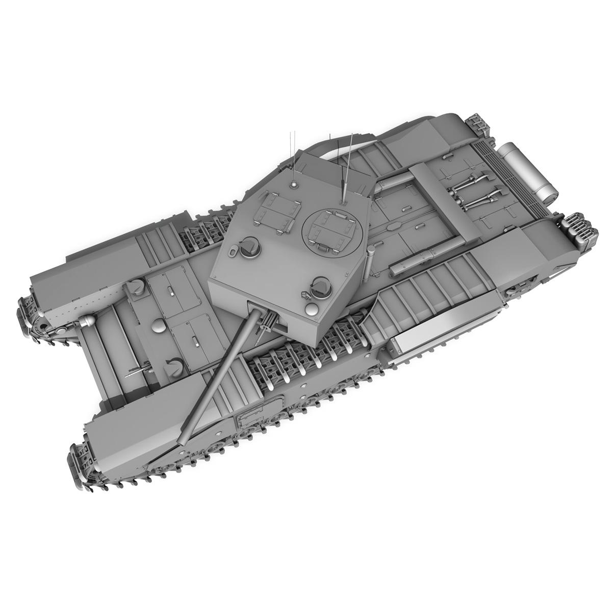 churchill infantry tank mk.iii 3d model 3ds fbx c4d lwo obj 271963