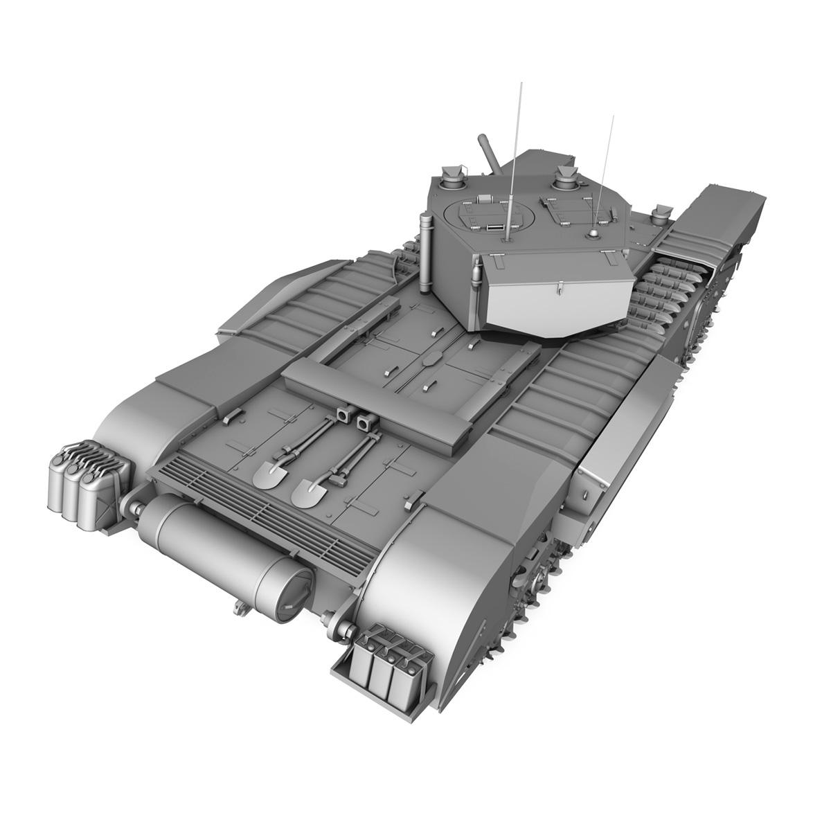 churchill infantry tank mk.iii 3d model 3ds fbx c4d lwo obj 271964