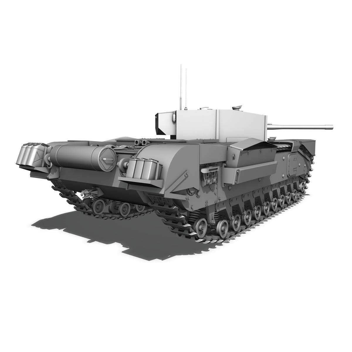 churchill infantry tank mk.iii 3d model 3ds fbx c4d lwo obj 271965