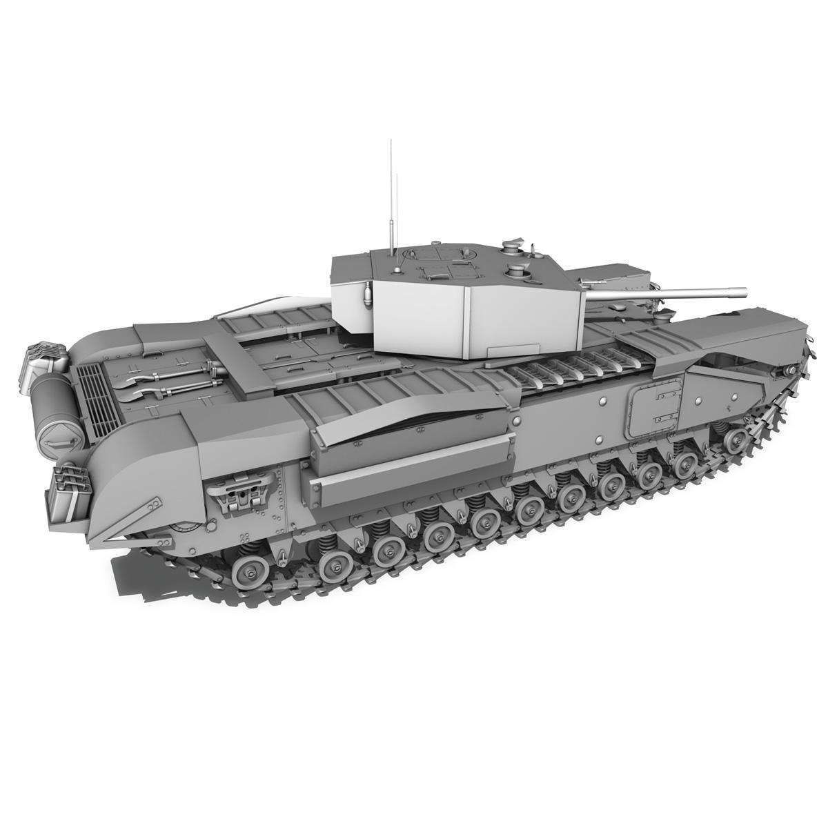 churchill infantry tank mk.iii 3d model 3ds fbx c4d lwo obj 271966