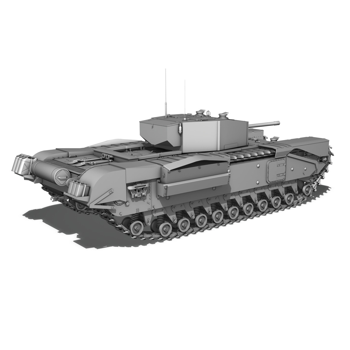 churchill infantry tank mk.iii 3d model 3ds fbx c4d lwo obj 271967