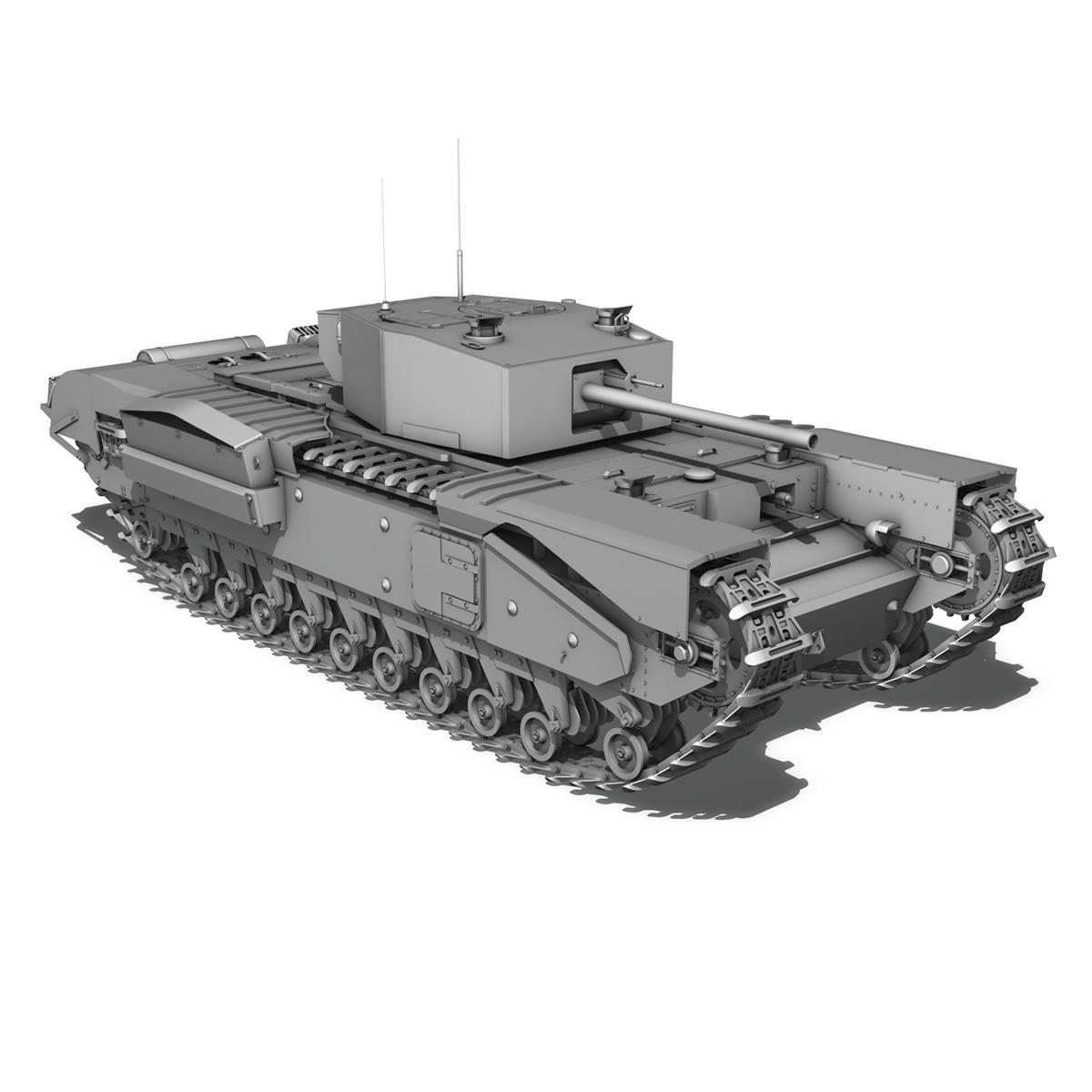 churchill infantry tank mk.iii 3d model 3ds fbx c4d lwo obj 271968