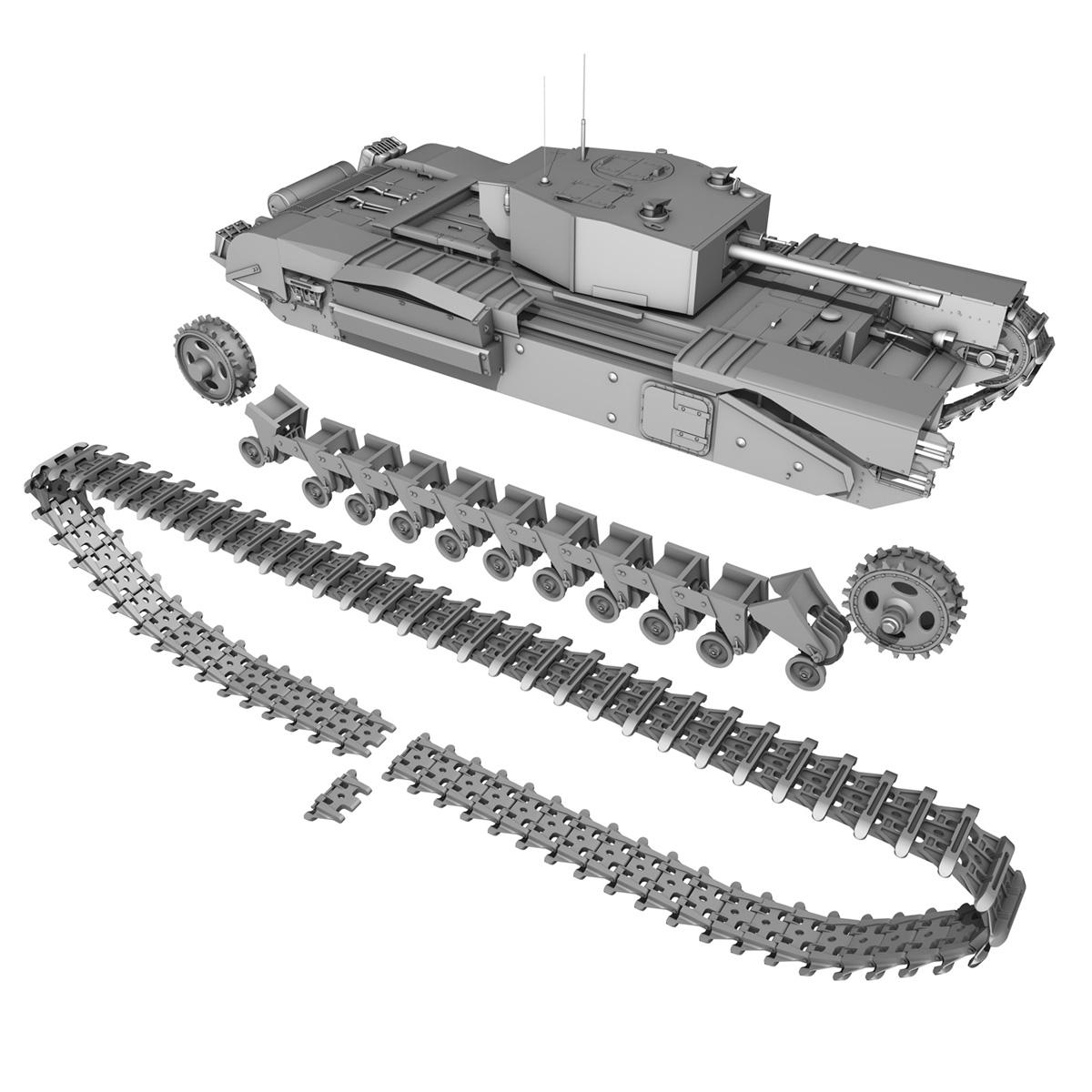churchill infantry tank mk.iii 3d model 3ds fbx c4d lwo obj 271969