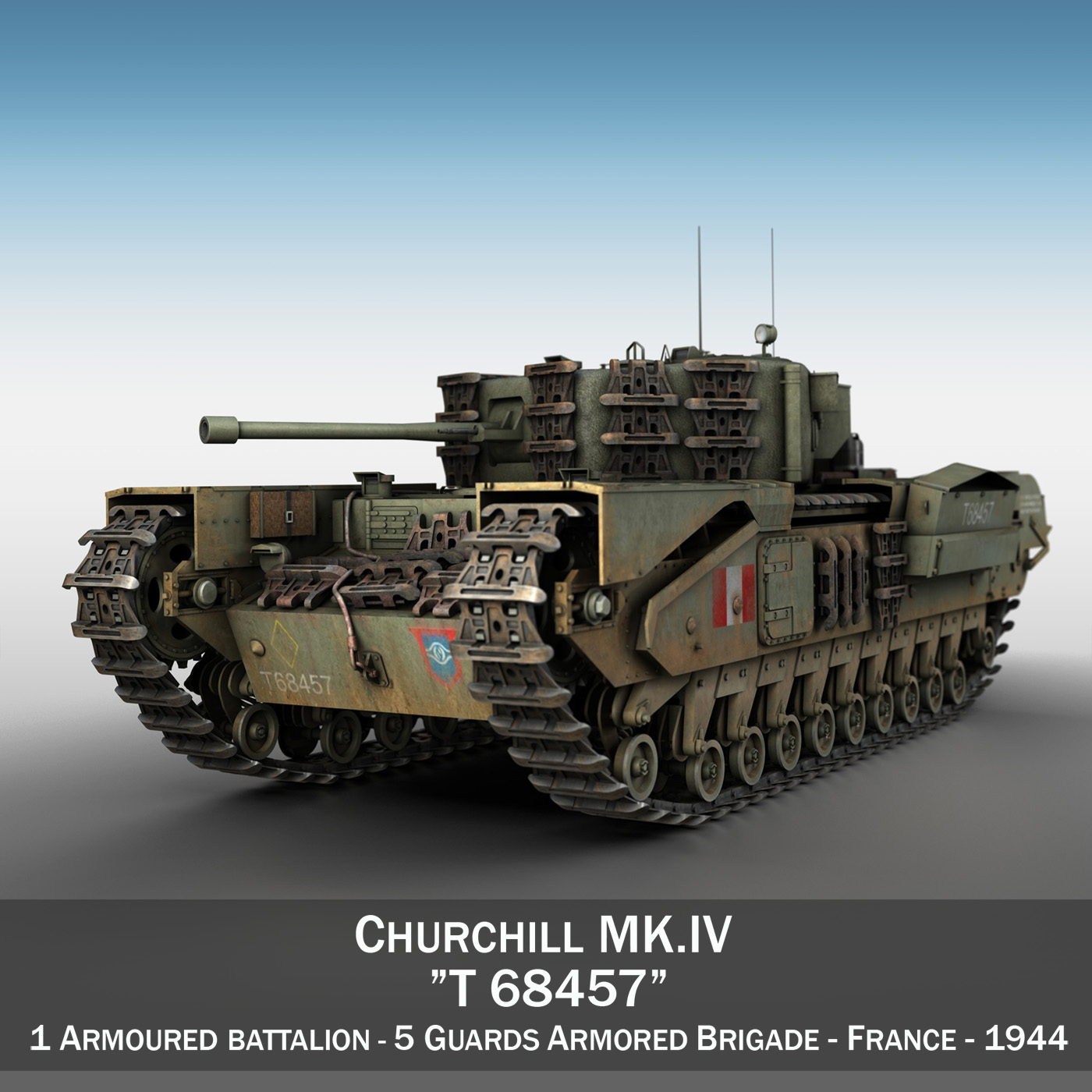 churchill mk.iv – t68457 3d model 3ds fbx c4d lwo obj 271977