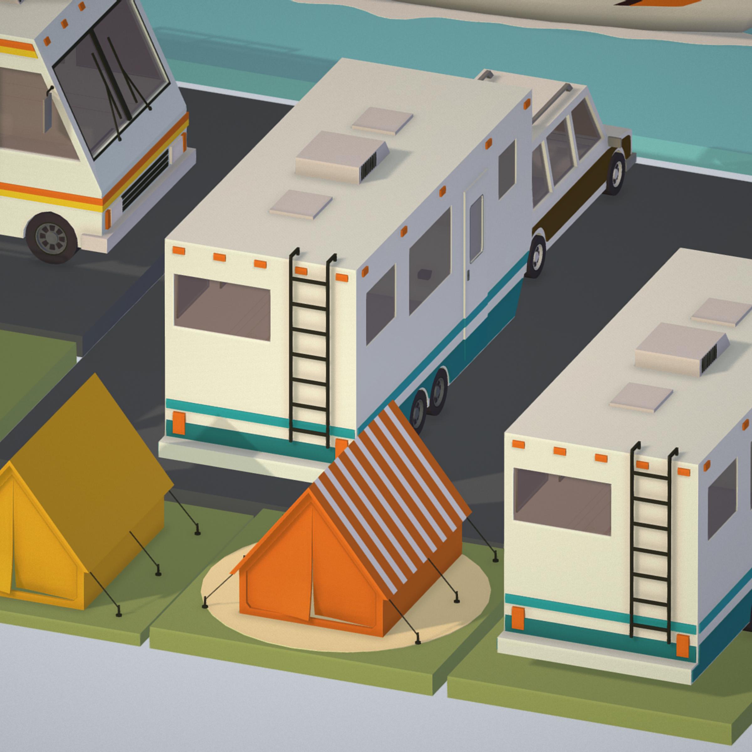 isometric transport holiday bbq camping 3d model max  fbx ma mb png obj 272013