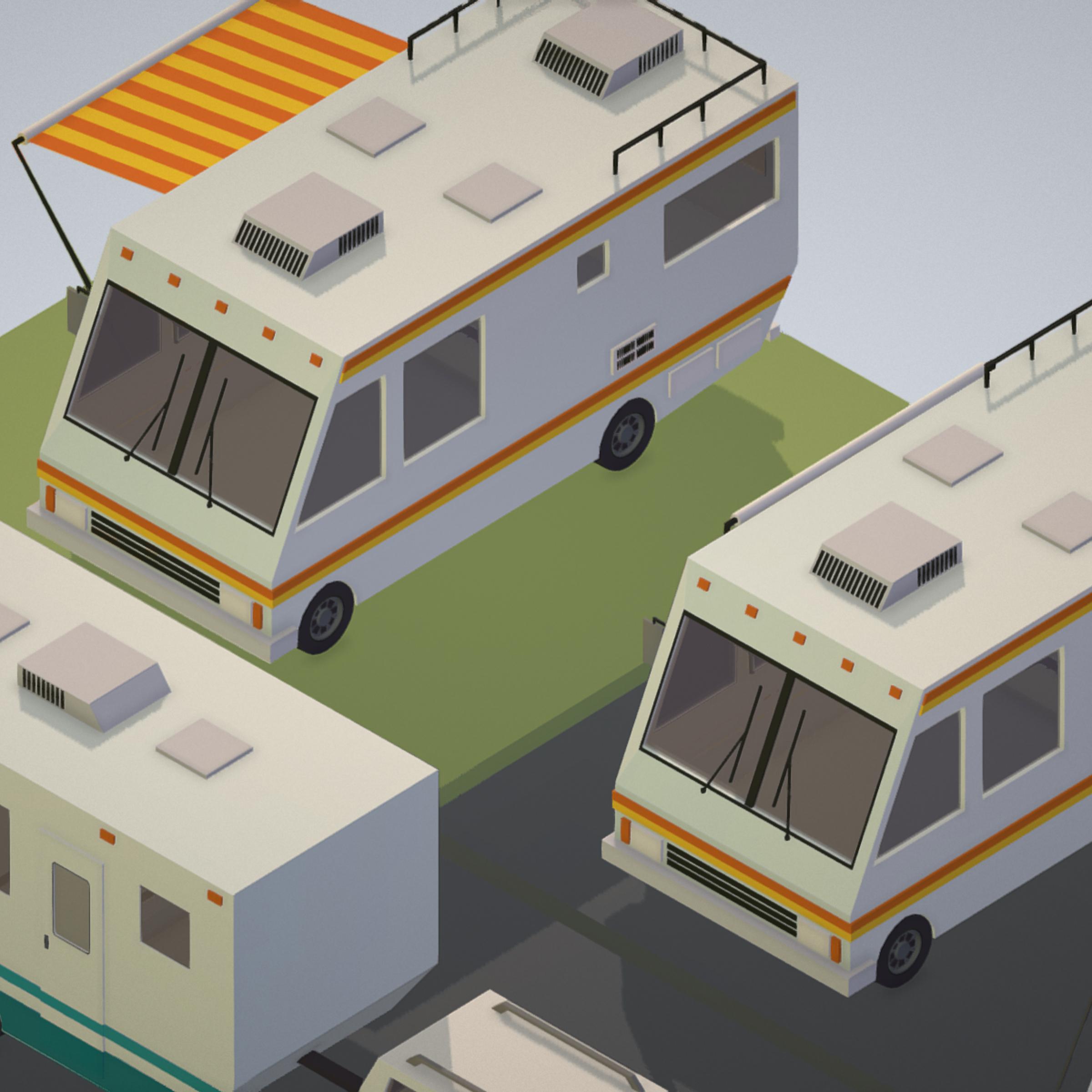 isometric transport holiday bbq camping 3d model max  fbx ma mb png obj 272015