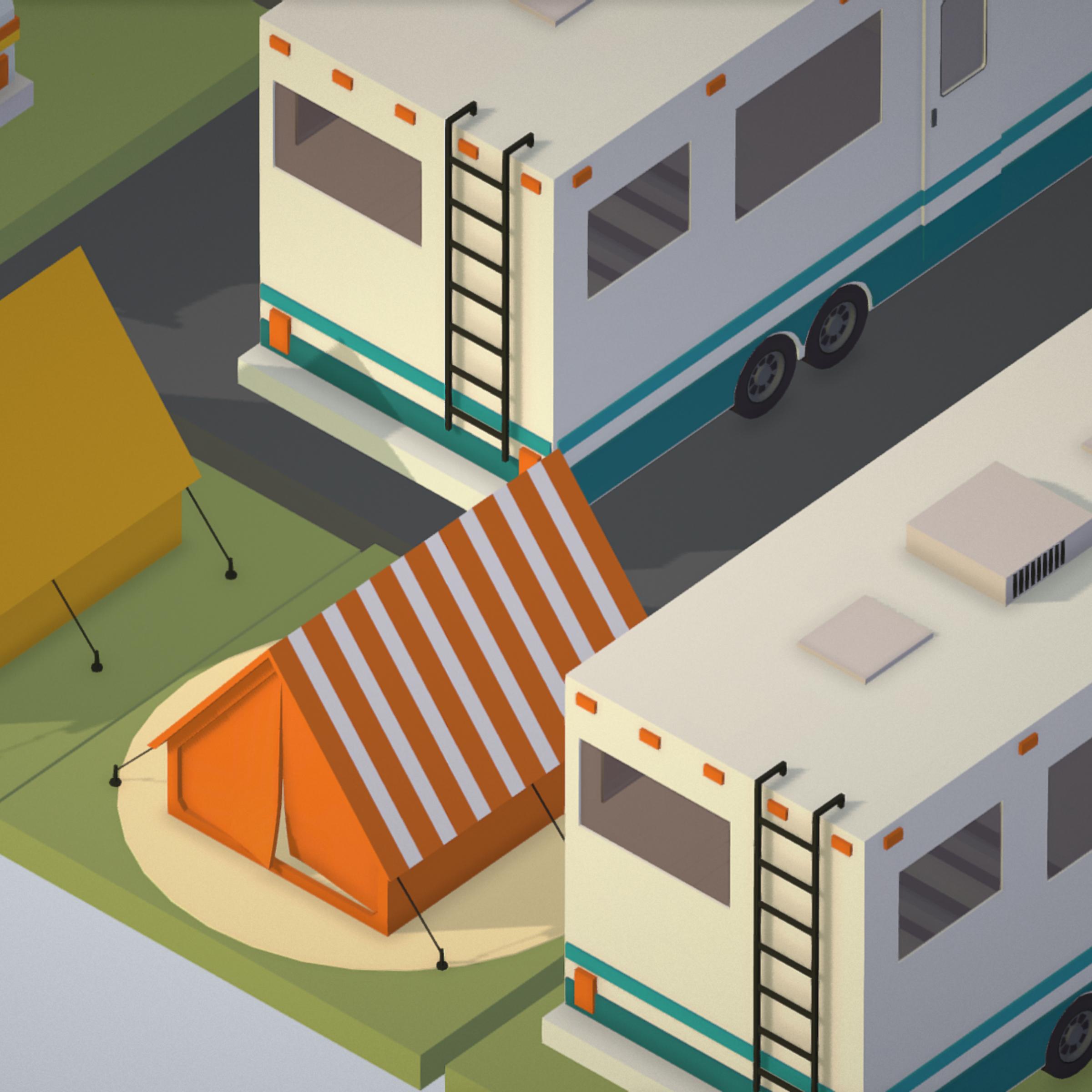 isometric transport holiday bbq camping 3d model max  fbx ma mb png obj 272019