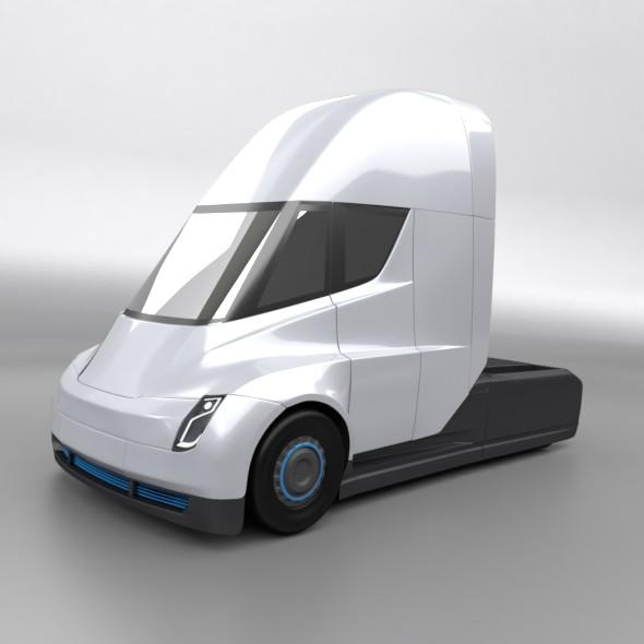 tesla electric semi truck 3d model 3ds fbx blend dae lwo obj 272038
