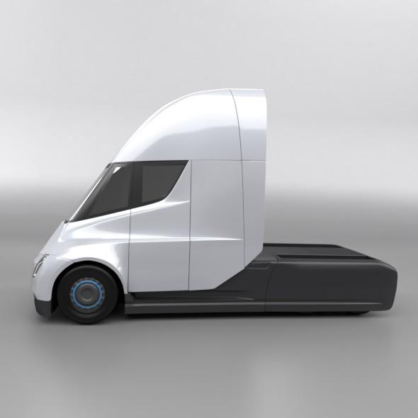 tesla electric semi truck 3d model 3ds fbx blend dae lwo obj 272039