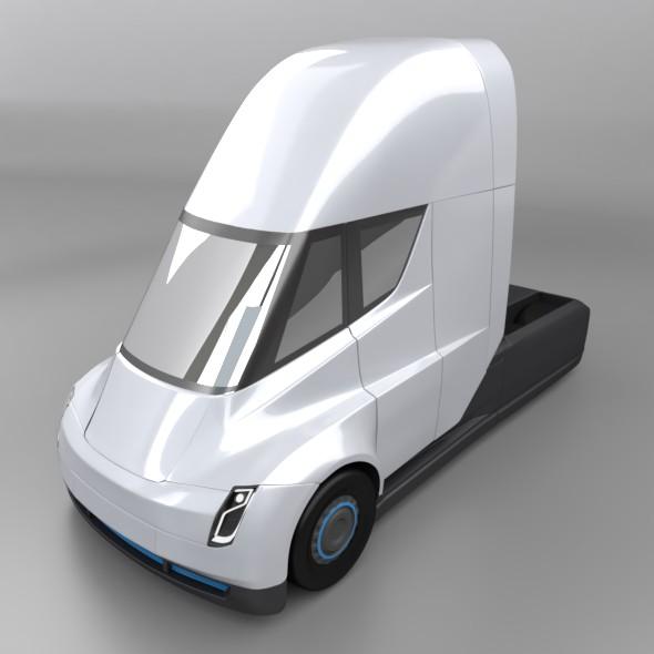 tesla electric semi truck 3d model 3ds fbx blend dae lwo obj 272041