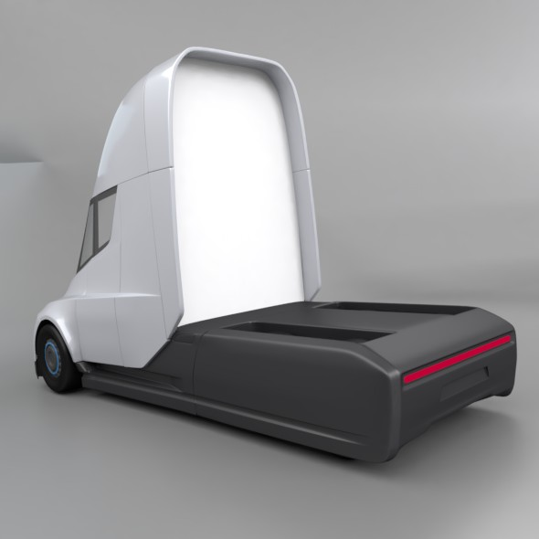 tesla electric semi truck 3d model 3ds fbx blend dae lwo obj 272043