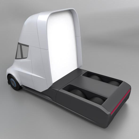 tesla electric semi truck 3d model 3ds fbx blend dae lwo obj 272044