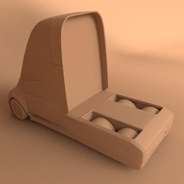 tesla electric semi truck 3d model 3ds fbx blend dae lwo obj 272045