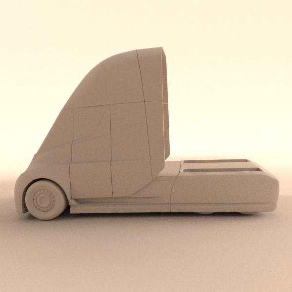 tesla electric semi truck 3d model 3ds fbx blend dae lwo obj 272046