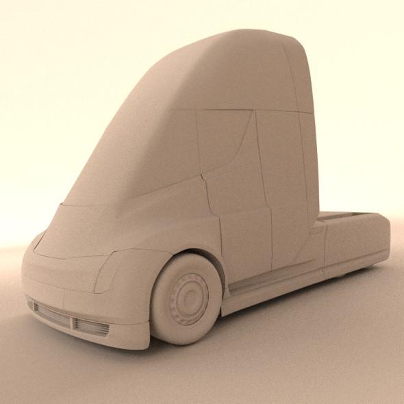 tesla electric semi truck 3d model 3ds fbx blend dae lwo obj 272047
